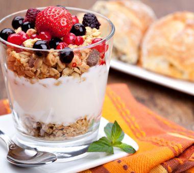 Spis deg til flat mage