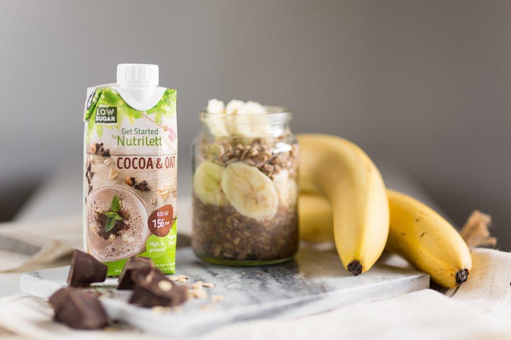 Nutrilett shake og banan