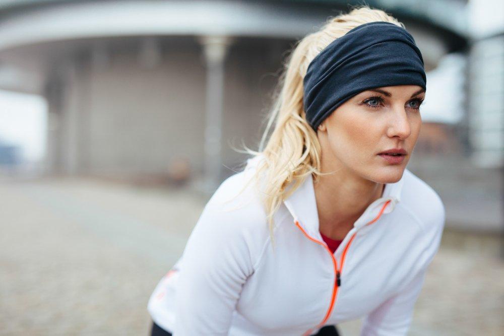 En person som ser motivert ut til å trene
